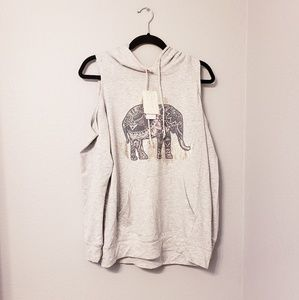 Nwt. Rebellious one elephant cold shoulder hoodie